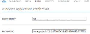 Windows Azure Credentials