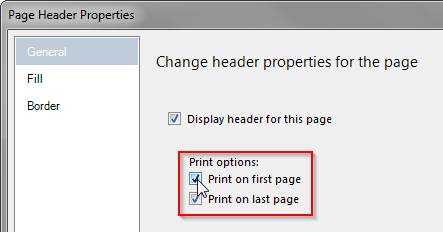 RDLC - Header Properties - Print on first page